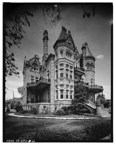 Lovely old photo of The Bishop's Palace...Galveston, TX