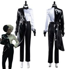 Cosplay Outfits, Cosplay Costumes, Halloween Outfits, Halloween Costumes, Cruella Costume, Black And White Shirt, Black White, Celebrity Outfits, Celebrity Clothing