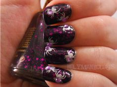Holy Manicures: Purple Spider Nails.