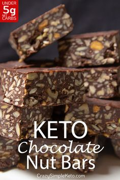 42 Best Low Carb Keto Chocolate Dessert Recipes to Satisfy Your Sweet Tooth - Keto Whoa Enjoy all the goodness that is chocolate guilt-free. These 42 Best Low Carb Keto Chocolate Dessert Recipes will satisfy all your cravings and more! Desserts Keto, Chocolate Desserts, Dessert Recipes, Chocolate With Nuts, Chocolate Nuts Recipe, Keto Snacks, Keto Desert Recipes, Keto Chocolate Fat Bomb, Chocolate Bars