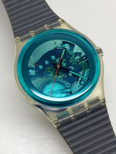 Vintage Swatch Watch Turquoise Bay GK103 1987 by ThatIsSoFunny  One of my favorite watches ever