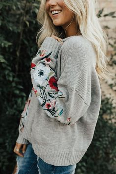 Fall Embroidered Sweater | ROOLEE