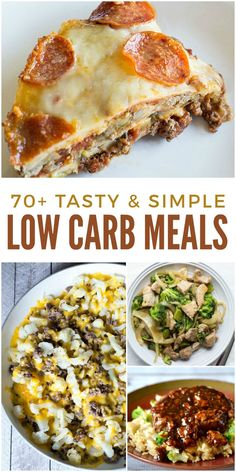 Eating low carb doesn't have to be difficult. Add some of these simple low carb meals into your menu plan to have breakfast or dinner on the table fast!