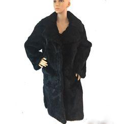 natural real rabbit fur woman long fur coat Jacket new