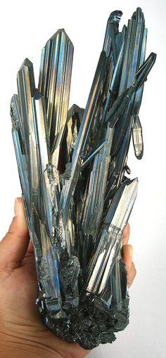 Stibnite (JP Morgan gift, circa 1910) - Ichinokawa Mine, near Saijo, Ehime prefecture (formerly Iyo Province), Shikoku Island, Japan large cabinet, 37 x 9 x 7.5 cm Mineral Friends <3