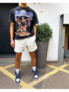 Dope Outfits For Guys, Summer Outfits Men, Stylish Mens Outfits, Vintage Summer Outfits, Trendy Mens Fashion, Mode Masculine, Black Men Street Fashion, Black Men Summer Fashion, Men Street Wear