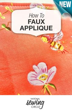 Appliqué can be incredibly fun, incredibly beautiful, and incredibly tedious! Here are some ideas for faux applique http://bit.ly/1McI8vz #LetsSew