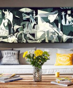 Picasso Guernica Famous Art Paintings Print On Canvas Art Prints Picasso Artwork Reproductions Wall Pictures Home Decoration Canvas Art Prints, Artwork Prints, Painting Prints, Canvas Wall Art, Framed Canvas, Canvas Paintings, Animal Paintings, Picasso Guernica, Maori