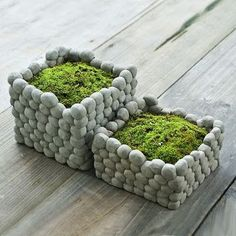 Cool Square Stone Flower Pot Rough Style Cement Pottery Handmade Planter Small Garden Pots For Succulents Bryophytes Moss garden succulent Cement Flower Pots, Cement Planters, Garden Planters, Garden Art, Garden Design, Moss Garden, Garden Soil, Terrace Garden, Garden Stones