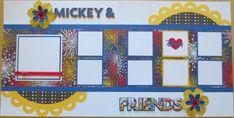 Mickey And Friends Disney 12X12 Scrapbook by TwoCraftyCreations, $14.95