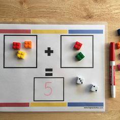 ¡Sumar con ladrillos LEGO es súper divertido! Anímate y haz esta actividad con tus niños. Estoy segura que a tus niños les encantará. Imprímela gratis en: www.legoactivities.com. #lego #fun #kids #activities #preschool #kindergarten #education #preescolar #educación #math #matemáticas #legostagram #education #homeschool #internationallegoday