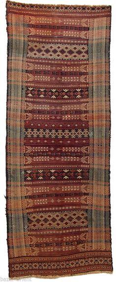 264x105 cm antik orient Nomaden beloch kelim Afghan bauern kilim Rarität No-394