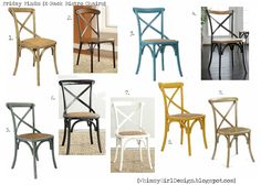 whimsy girl: Friday Finds: {X-Back Bistro Chairs}