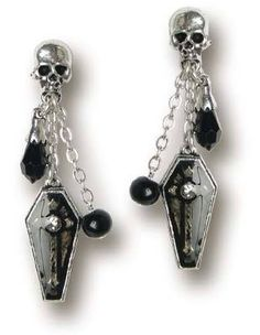 Gothic Coffin Skull Earrings, Alchemy Gothic, U.K.