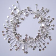 Chaos wire bracelet, satin | Contemporary Bracelets by contemporary jewellery designer Fiona DeMarco