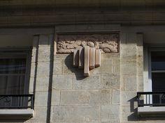 Décor art déco, rue Charles Lamoureux, Bordeaux, Gironde, Aquitaine