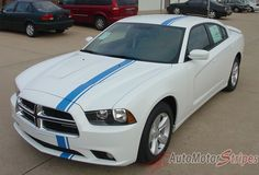 2011-2014 Dodge Charger E-Rally Mopar Style Offset Euro Rally Vinyl Graphic Racing Stripes 3M Package