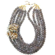 Sparkle Through the Fog necklace by Elva Fields #elvafields