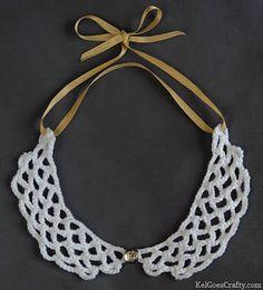 Kel Goes Crafty: Pattern: Peter Pan crochet collar