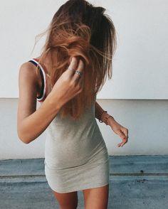 UOonYou via @juliahlm   FILA Festival Grey Striped Slip Dress   Urban Outfitters   Women's   Dresses   Slip Dresses #urbanoutfitterseu #uoonyou #uoeurope