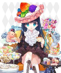 I likes to drink Me Anime, Anime Child, Anime Art, Anime Girl Cute, I Love Anime, Kawaii Art, Kawaii Anime, Candy Drawing, Chibi Food