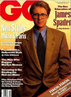 """#TripGabriel tries to describe """"Hot Wasp: The Sex Education of James Spader"""" in #GQMagazine. (October, 1990 - 1 of 8 pages) #Spader"""