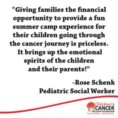 Our camp #scholarship program allows patients in remission to attend the camp of their choice, providing a wonderful opportunity for children to take part in activities they may have missed out on while in treatment. http://childrenscancerrecovery.org/programs/camp-scholarships/
