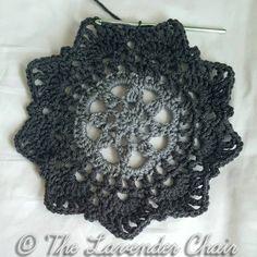 Crochet Starburst Mandala Circular Vest CAL 2017 Part 1 by The Lavender Chair