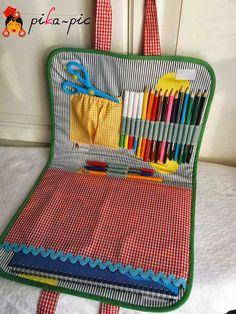 pikapic: Maletines de dibujo de tela para niña y niño