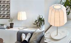 Trådlös laddning på lampa från Ikea