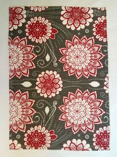 Buitengrcht flower pattern tea towel by QuaggaPattern on Etsy Patterned Tea Towels, Surface Pattern Design, Flower Patterns, Fabrics, African, Wallpapers, Unique Jewelry, Handmade Gifts, Flowers