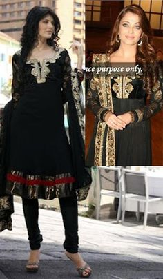 Aishwarya Rai Black Faux Georgette Salwar Suit.    Product Code : G3-LSA103014  Price : INR RS 8190 Aishwarya Rai, Indian Salwar Kameez, Salwar Suits, Straight Cut Dress, Classy And Fabulous, Festival Wear, Wedding Suits, Muslim, Designer Dresses