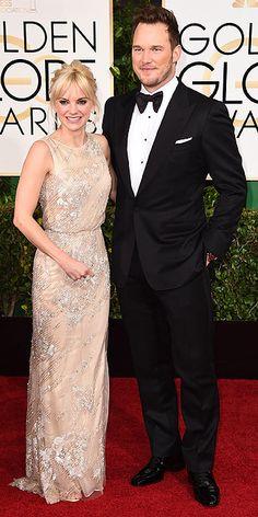 Gold Globes 2015 : Anna Faris and Chris Pratt