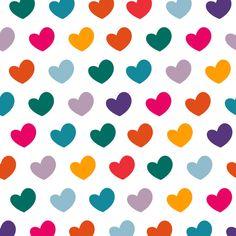 0 colourful mini hearts pattern