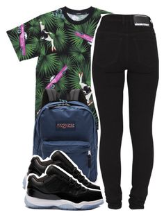 """11:13:14"" by codeineweeknds ❤ liked on Polyvore featuring JanSport, Retrò and Dr. Denim"
