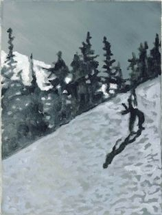 Snowboarder By Peter Doig ,1996