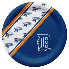 Detroit Tigers MLB Disposable Paper Plates