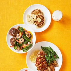 Get flat abs in time for summer with this collection of easy, healthy recipes. Mix and match the meals for breakfast, lunch, dinner, and snack for a total of 1,500 calories a day. - Fitnessmagazine.com