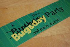 Bug party invite
