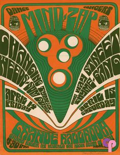 Grande Ballroom & Artist: Gary Grimshaw Performers: Changing Tymes Weeds Sum Guys One Way Street Thyme Gang Weed Posters, Rock Posters, Concert Posters, Psychedelic Typography, Psychedelic Music, Psychedelic Posters, Rock Design, Design Art, Detroit Art