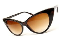 Super Cateyes Vintage Inspired Fashion Mod Chic High Pointed Cat-Eye Sunglasses (With Free Microfiber Pouch) --- http://www.amazon.com/Cateyes-Vintage-Inspired-Fashion-Sunglasses/dp/B007CMPBCG/ref=sr_1_5/?tag=http://amzn.to/17PhQw1