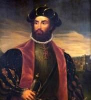 Vasco da Gama, Count of Vidigueira (?- December was a Portuguese explorer. He was the first European to reach India by sea, linking Europe and Asia for the first time by ocean route, Aztec Emperor, History Of Portugal, Dutch Republic, Fra Angelico, American Dollar, School Portraits, The Lost World, High Priest, Large Eyes