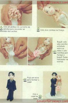 МК как слепить волосы/парик для куклы -How to Make a Doll Wig / Doll Hair - Page 7 - Мастер-классы по украшению тортов Cake Decorating Tutorials (How To's) Tortas Paso a Paso