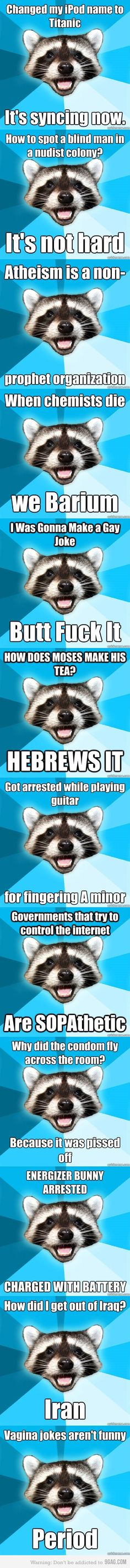 """Hahahaha. """"Got arrested while playing guitar.....for fingering A minor."""""""