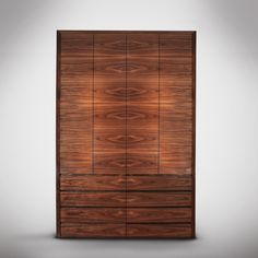 The book-matched walnut veneer and its dimensions make this wardrobe a stunning piece that will become the focus of attention in the room. Its interiors are lined with oak and wenge to create an impressive effect also when the doors are open. Contemporary Interior Doors, Modern Interior Design, Modern Contemporary, Modern Traditional, Pine Wardrobe, Bedroom Wardrobe, Mid Century Modern Door, Modern Closet Doors, Modern Paint Colors
