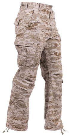 Men's Desert Digital Camouflage Military Fatigue Cargo Pants