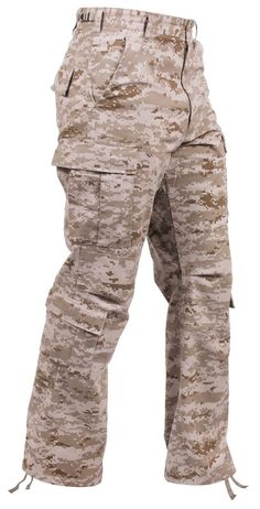 Men's Desert Digital Camouflage Military Fatigue Cargo Pants