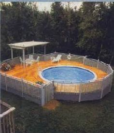 round pool decks - Bing images
