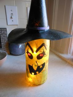 Holiday wine bottle lights. Witch by CharmingAffect on Etsy
