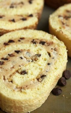 Cookie Dough Cake Roll